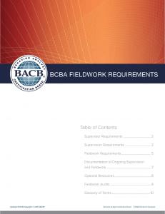 BCBA Requirements (January 1, 2022) – Behavior Analyst
